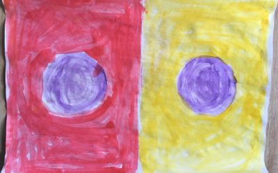 """Own artwork based on """"One Color Becomes Two"""" by Sabijn van Roij"""