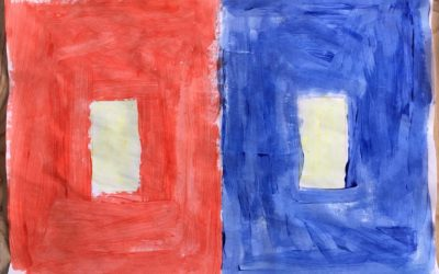 "Own artwork based on ""One Color Becomes Two"" by Sabijn van Roij"