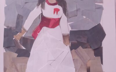"""La duqueza de Alba"" - Goya by Yaiza, student of Enrique Veganzones at the Ruiz de Alda High School, San Javier"