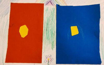 One Color Becomes Two by students from Tom Banks's class at the European School in Brussels